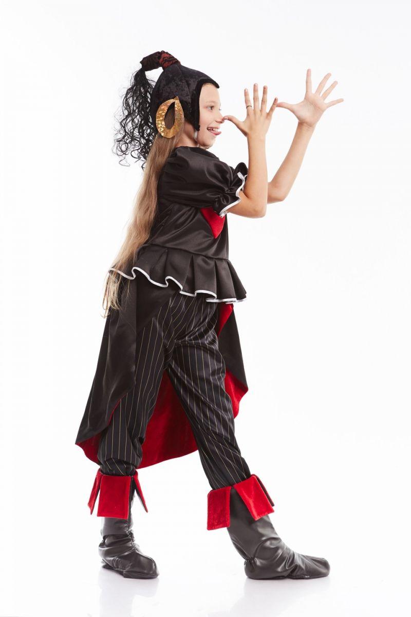 Масочка - Атаманша «Бременские музыканты» карнавальный костюм для девочки / фото №1014