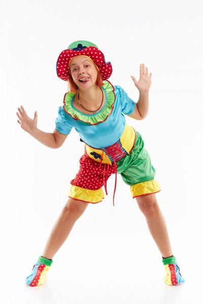 Клоунесса «Жу-жу» карнавальный костюм для взрослых