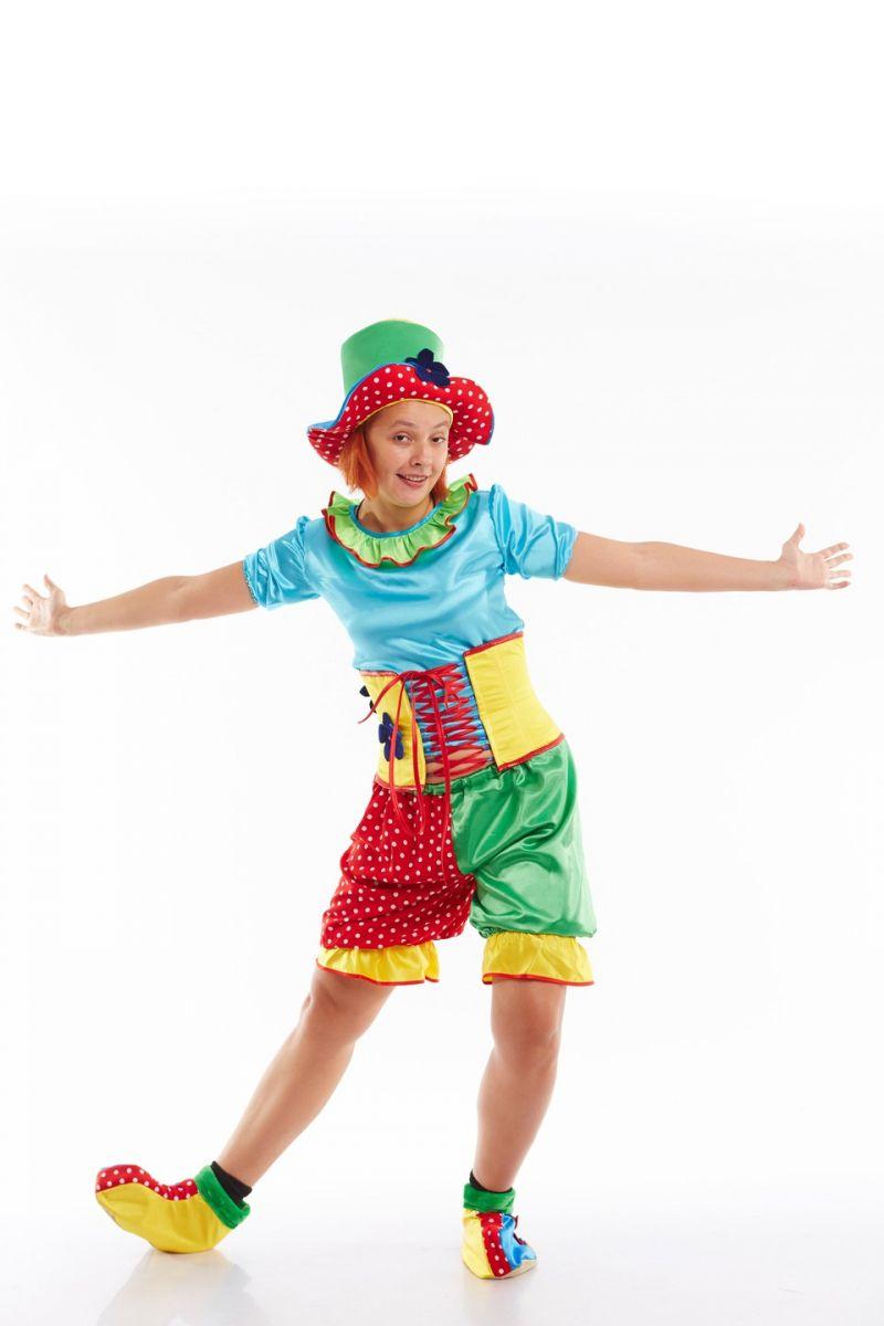 Масочка - Клоунесса «Жу-жу» карнавальный костюм для взрослых / фото №1032