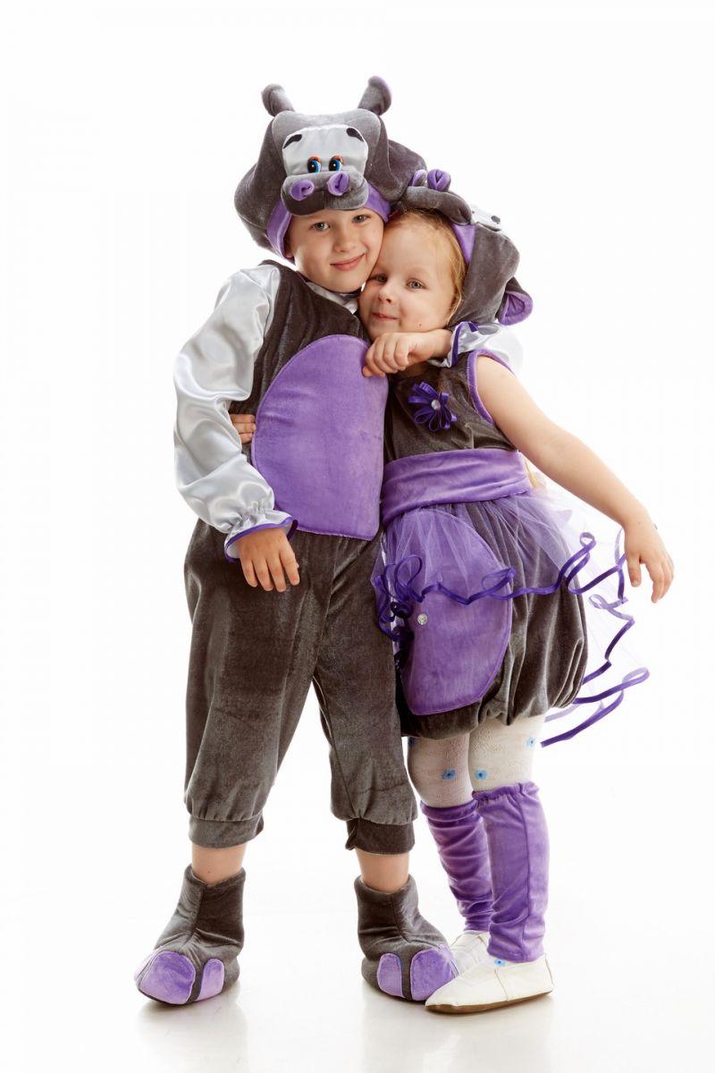 Масочка - «Бегемот» карнавальный костюм для мальчика / фото №1081