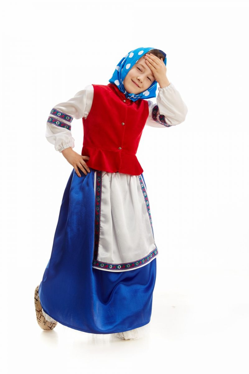 «Бабка в платке» карнавальный костюм для девочки