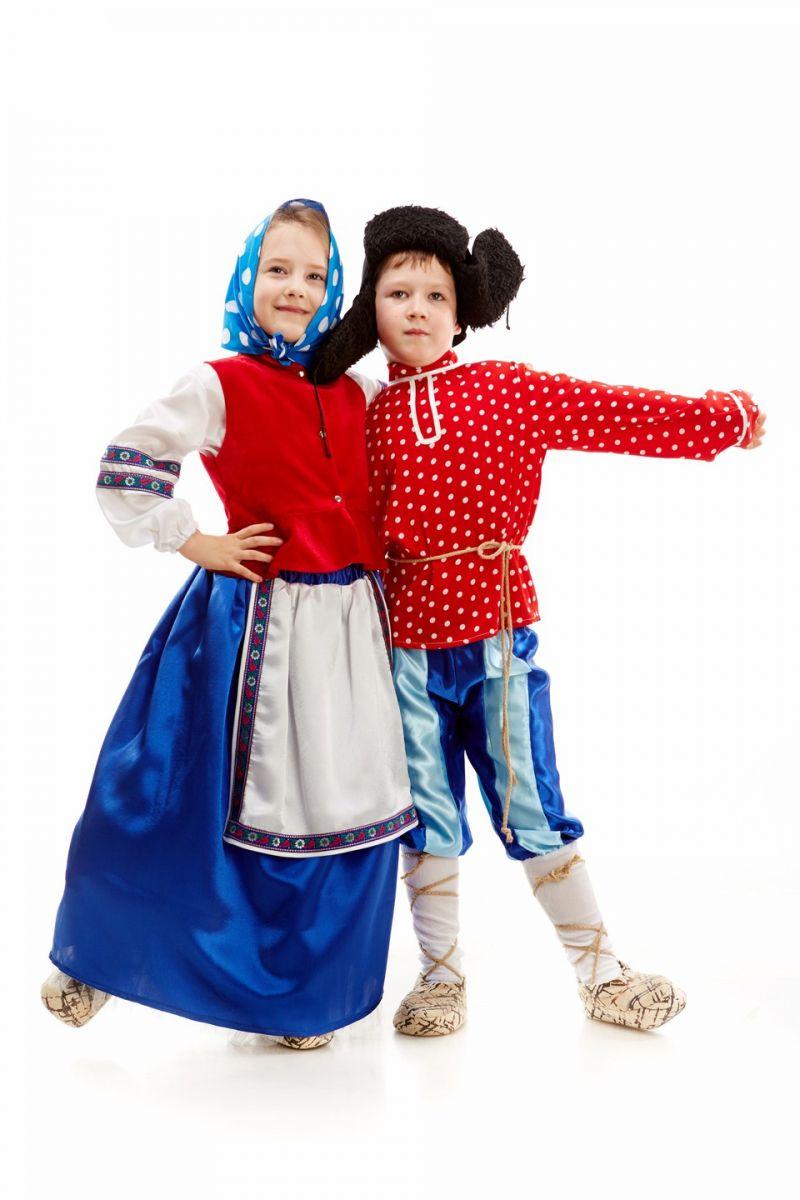 Масочка - «Бабка в платке» карнавальный костюм для девочки / фото №1116