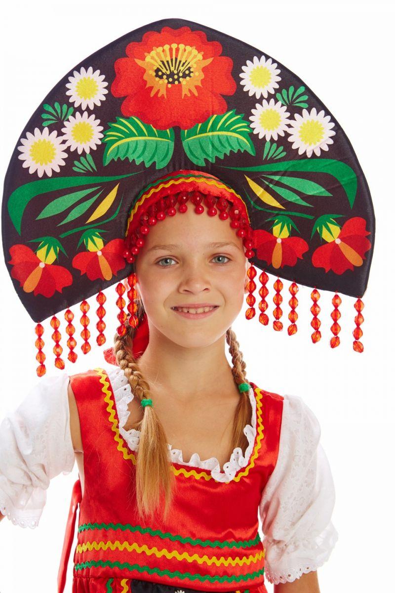 Масочка - Русский народный «Хохлома» для девочки / фото №1124
