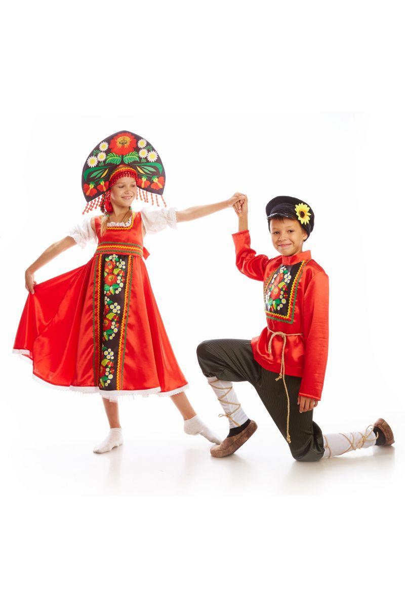 Масочка - Русский народный «Хохлома» для девочки / фото №1125