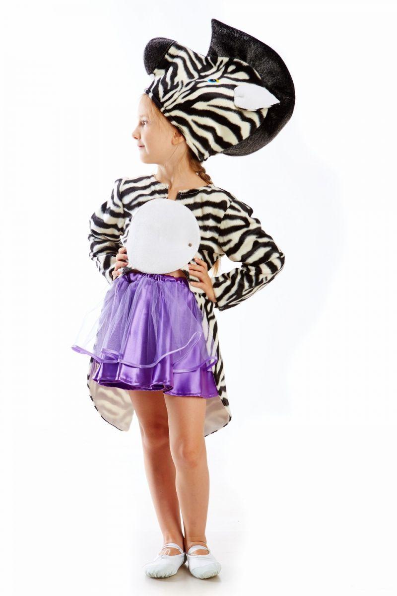 Масочка - «Зеброчка» карнавальный костюм для девочки / фото №1136