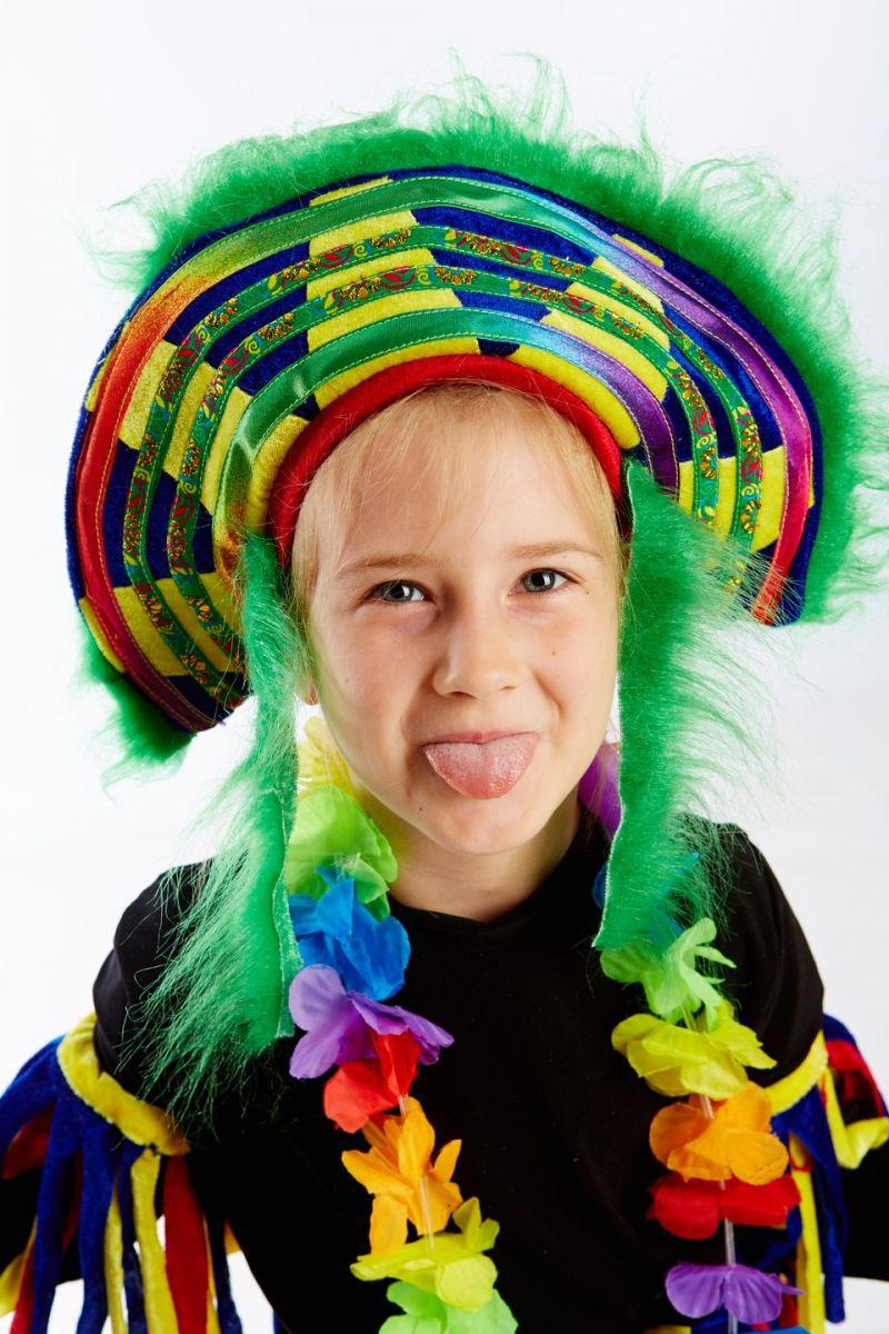 Масочка - «Папуасик» карнавальный костюм для детей / фото №1147