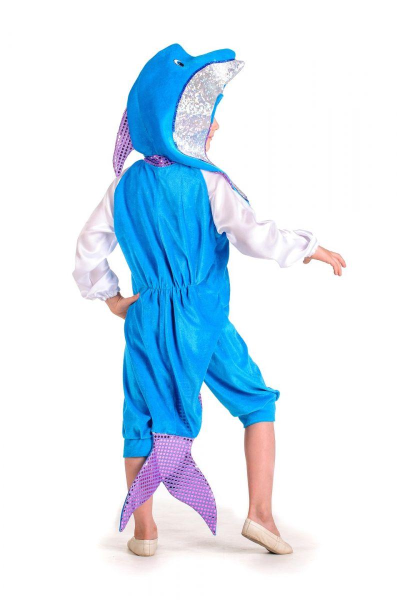 Масочка - «Дельфин» карнавальный костюм для мальчика / фото №1192