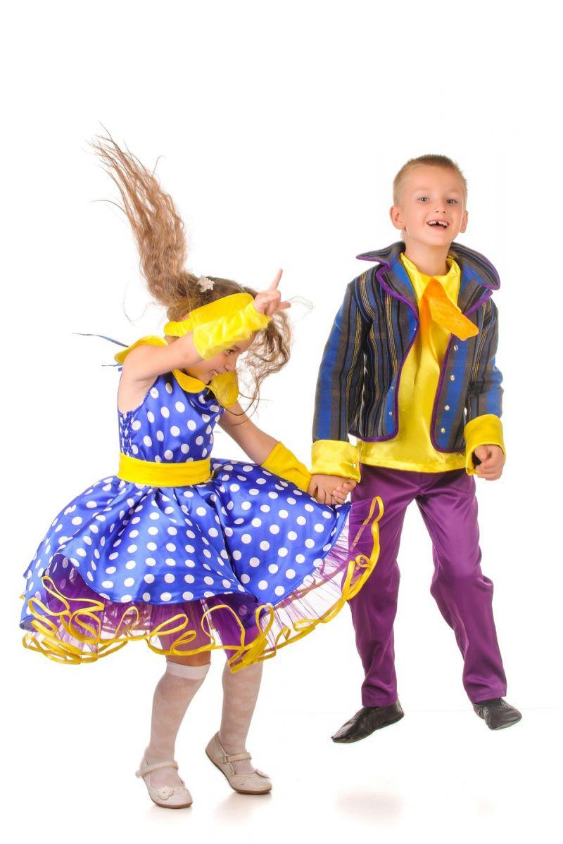 Масочка - «Стиляга в горошек» карнавальный костюм для девочки / фото №1205