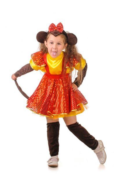 Обезьянка «Огненная» карнавальный костюм для девочки