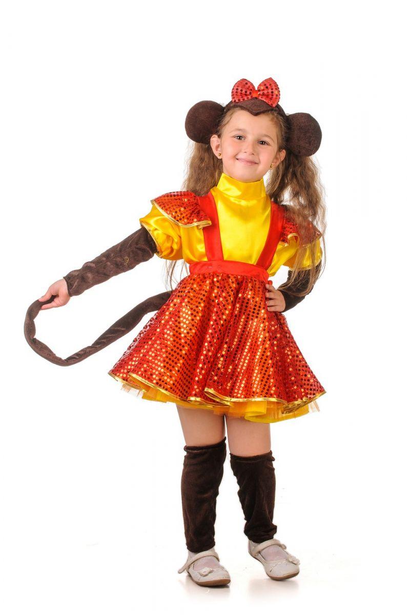 Масочка - Обезьянка «Огненная» карнавальный костюм для девочки / фото №1215