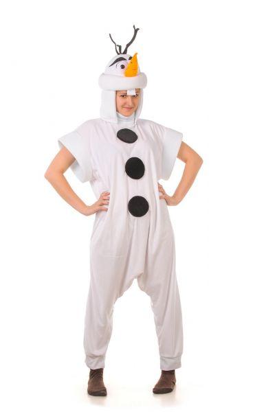 Снеговик «Холодное сердце» карнаваьный костюм для взрослых