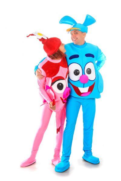 «Смешарик Крош» карнавальный костюм для взрослых