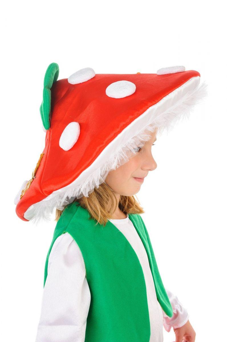 Масочка - «Мухомор» карнавальный костюм для девочки / фото №1247
