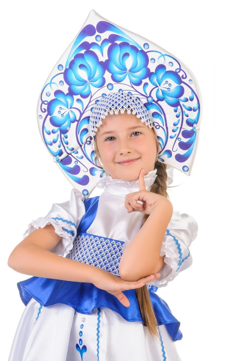 Масочка - Русский народный костюм «Гжель» девочка / фото №1250