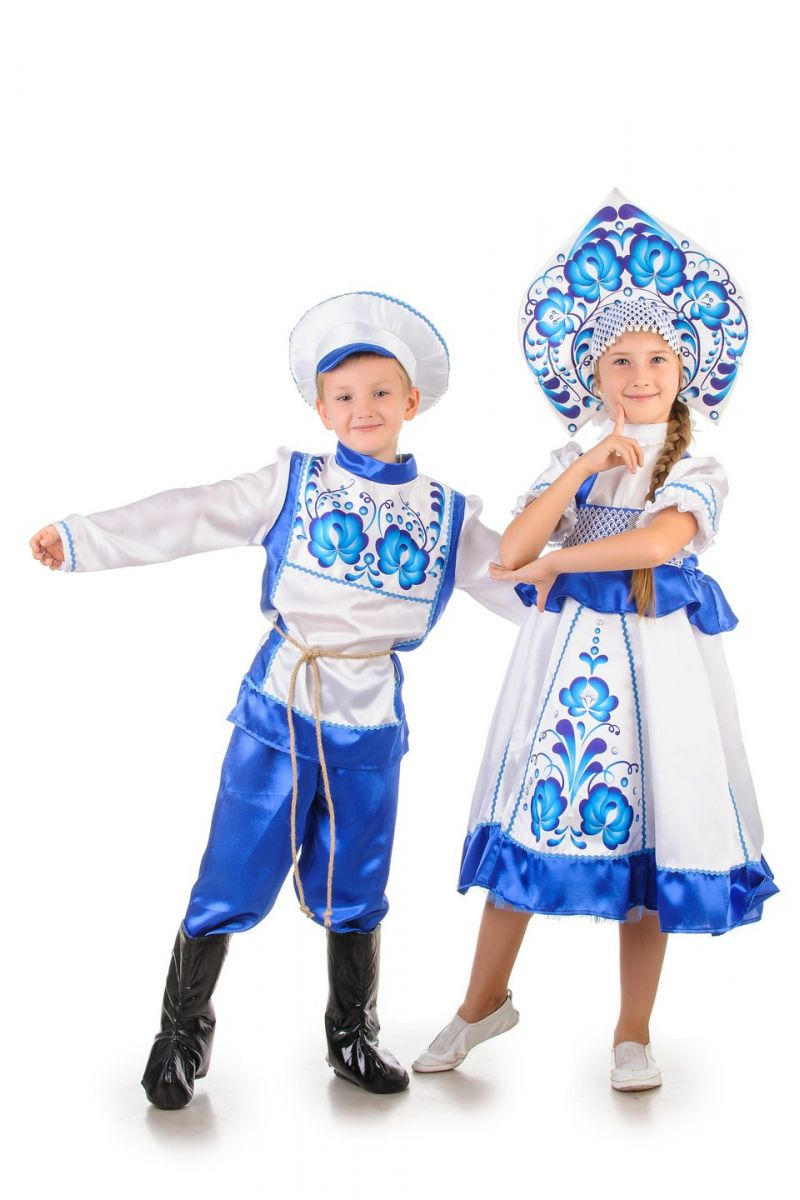 Масочка - Русский народный костюм «Гжель» мальчик / фото №1254