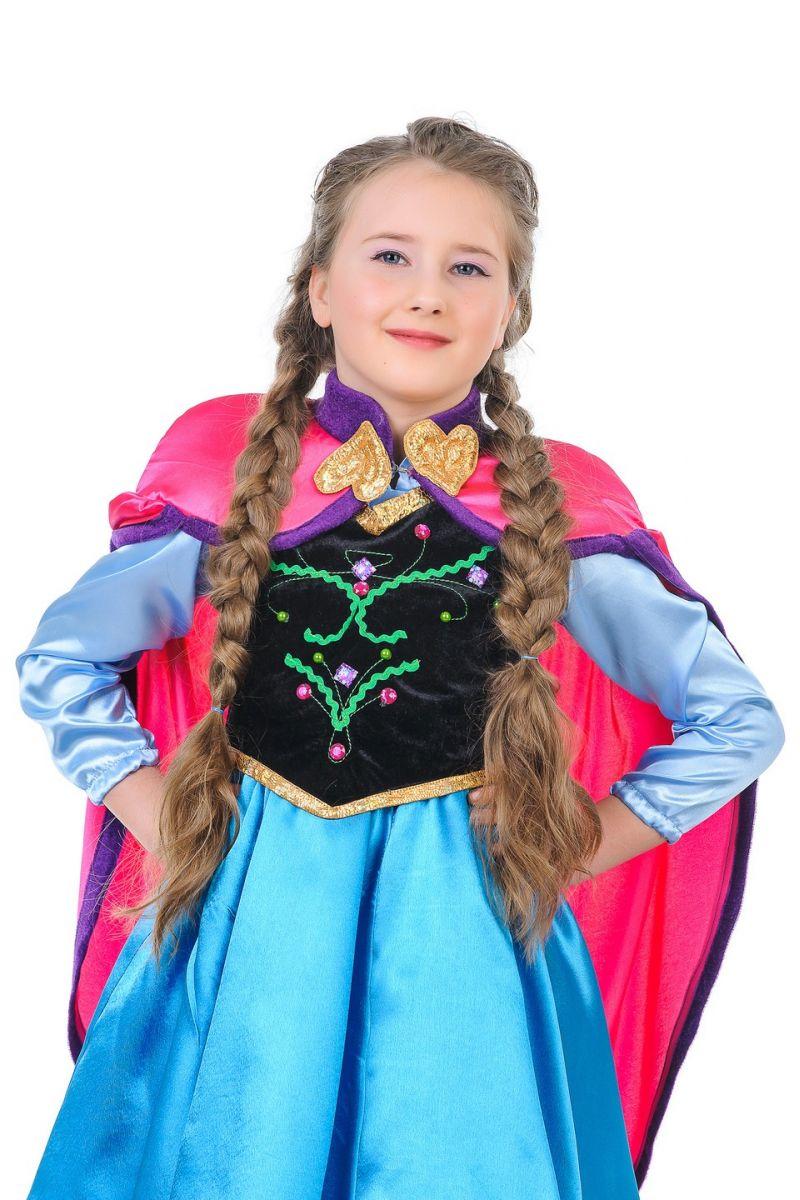 Масочка - Анна «Холодное сердце» карнавальный костюм для девочки / фото №1277