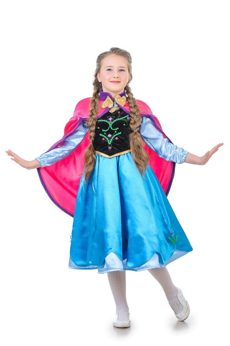 Масочка - Анна «Холодное сердце» карнавальный костюм для девочки / фото №1278