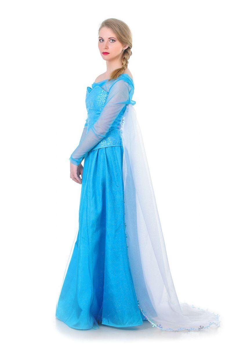 Масочка - Эльза «Холодное сердце» карнавальный костюм для взрослых. / фото №1315