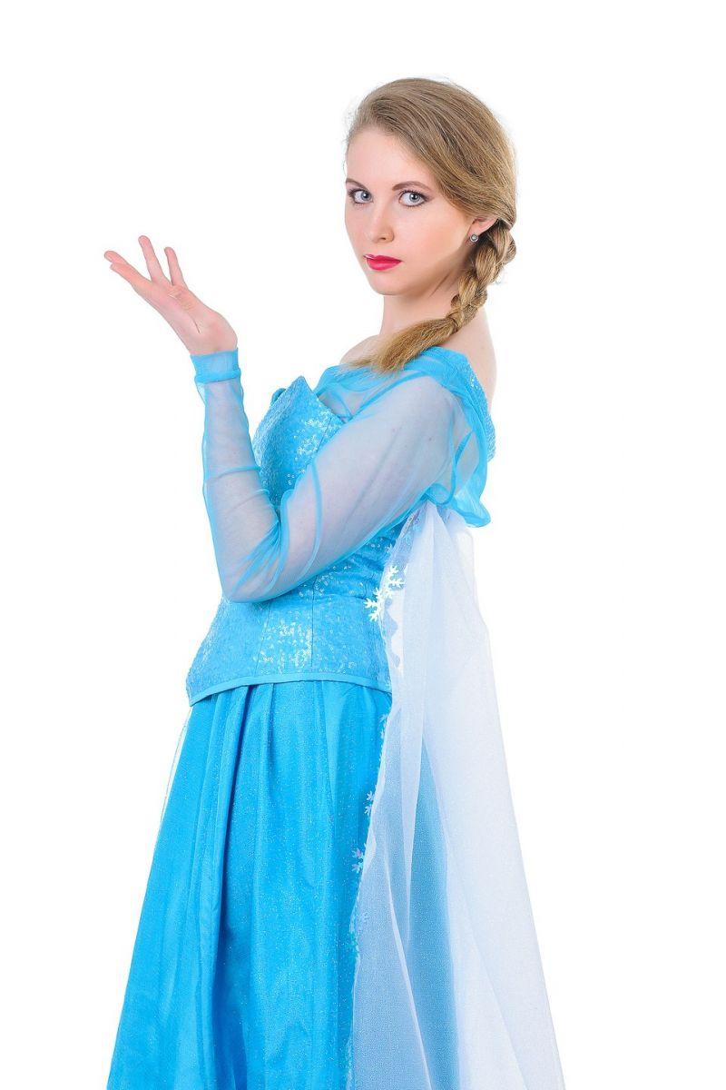 Масочка - Эльза «Холодное сердце» карнавальный костюм для взрослых. / фото №1316