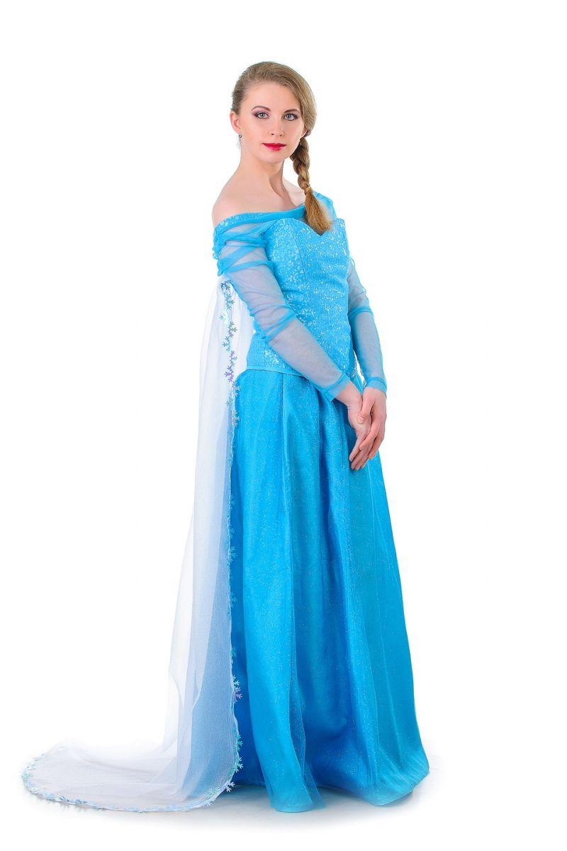 Масочка - Эльза «Холодное сердце» карнавальный костюм для взрослых. / фото №1317
