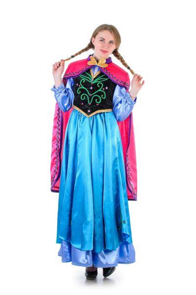 Анна «Холодное сердце» взрослый карнавальный костюм