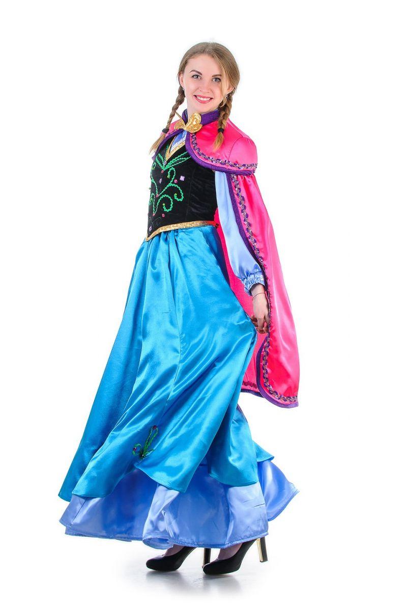 Масочка - Анна «Холодное сердце» взрослый карнавальный костюм / фото №1320