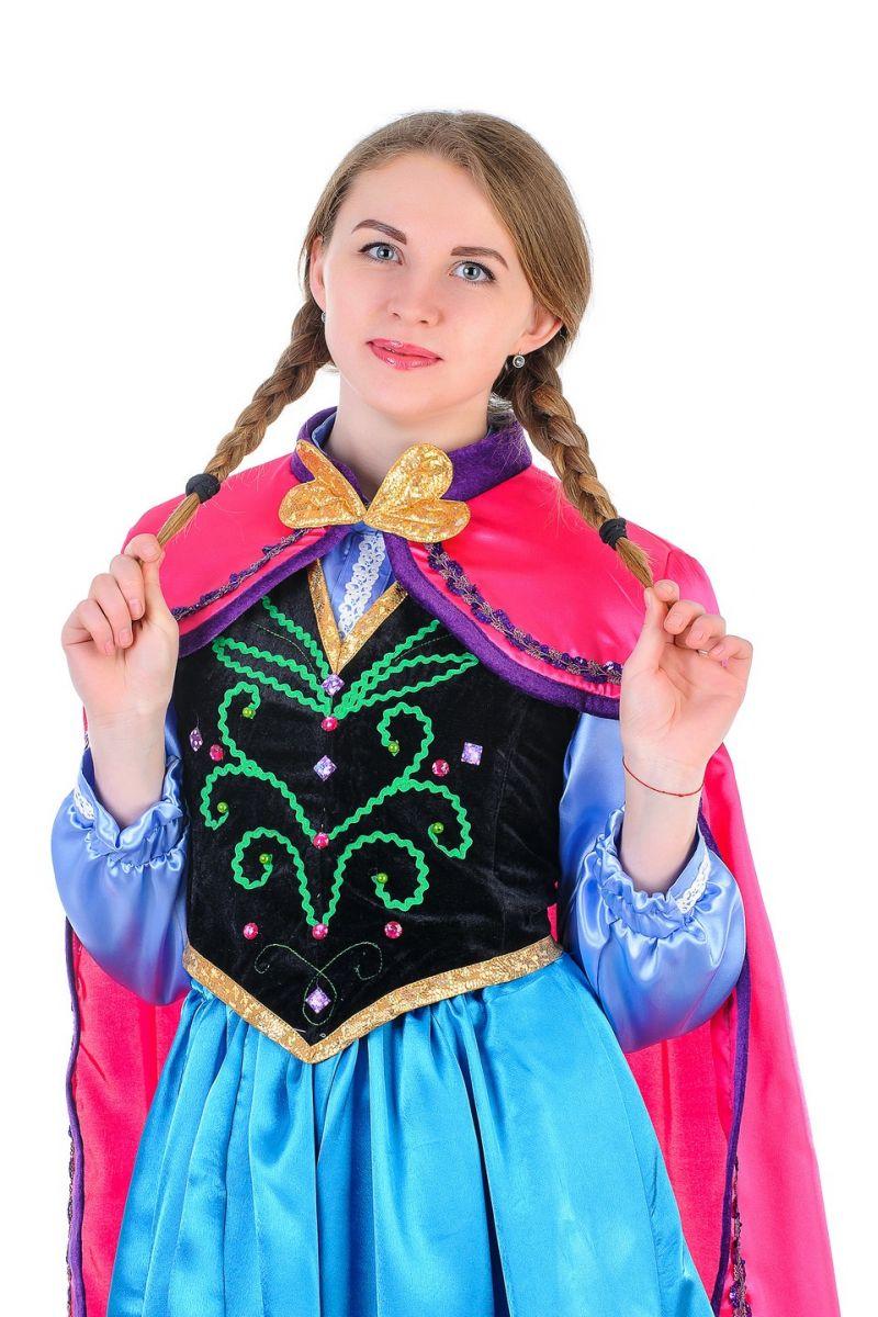 Масочка - Анна «Холодное сердце» взрослый карнавальный костюм / фото №1321