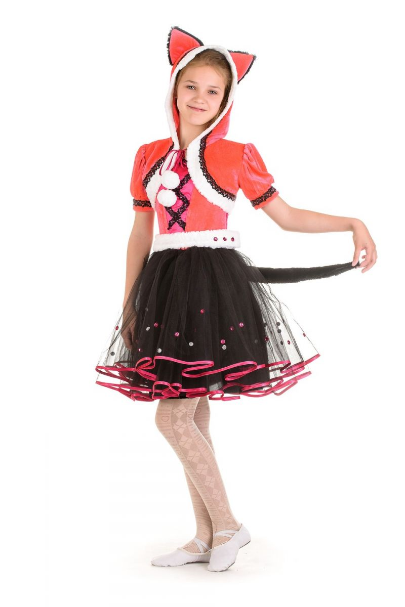Масочка - Кошка «Мяу» карнавальный костюм для девочки / фото №1332