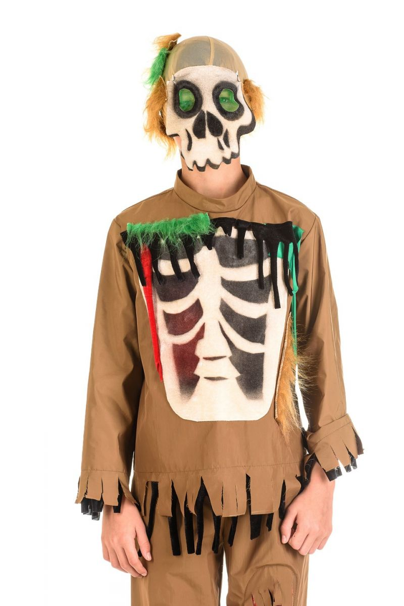 Масочка - «Зомби» карнавальный костюм для мальчика / фото №1339