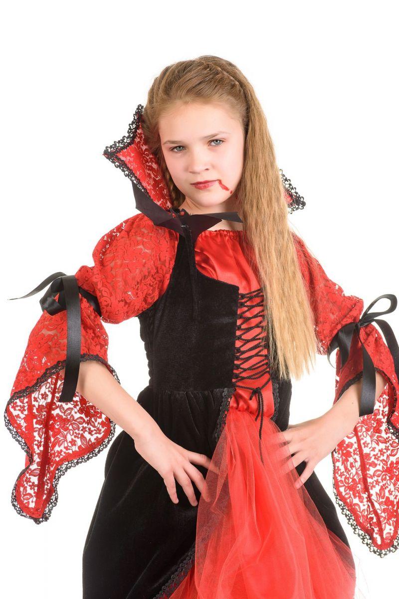 Масочка - «Вампиресса» карнавальный костюм для девочки / фото №1343