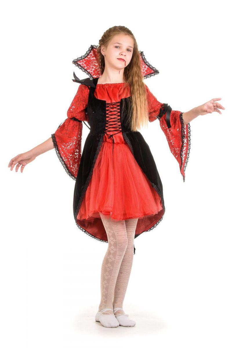 Масочка - «Вампиресса» карнавальный костюм для девочки / фото №1344