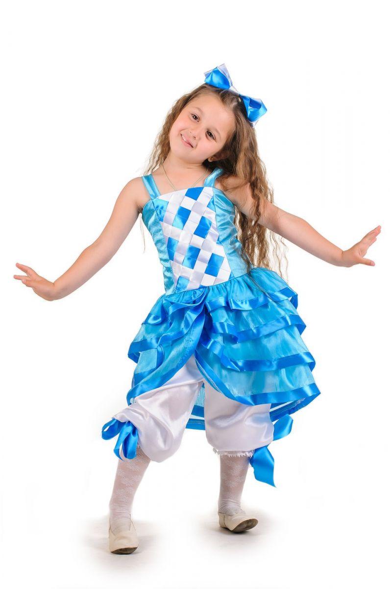 «Мальвина голубая» карнавальный костюм для девочки