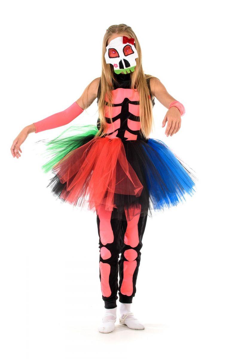 Масочка - «Принцесса скелетов» карнавальный костюм для девочки / фото №1361
