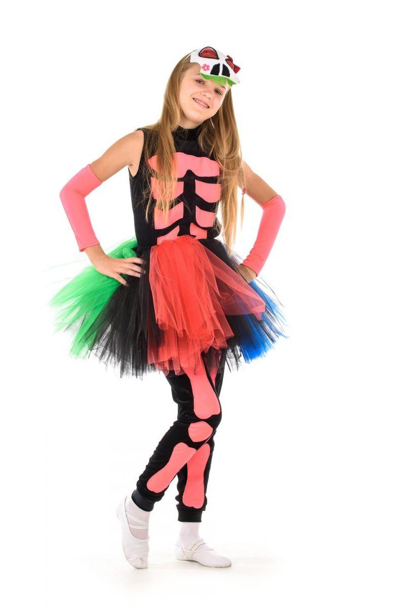 Масочка - «Принцесса скелетов» карнавальный костюм для девочки / фото №1362