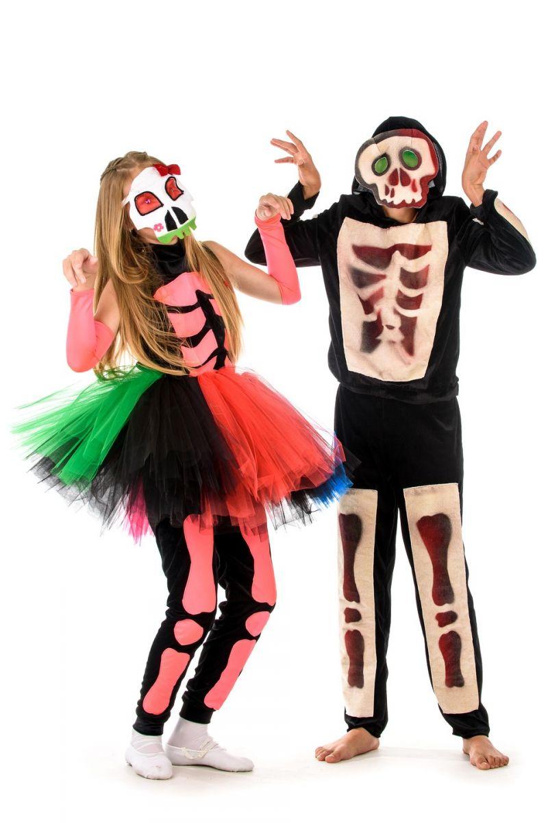 Масочка - «Принцесса скелетов» карнавальный костюм для девочки / фото №1363
