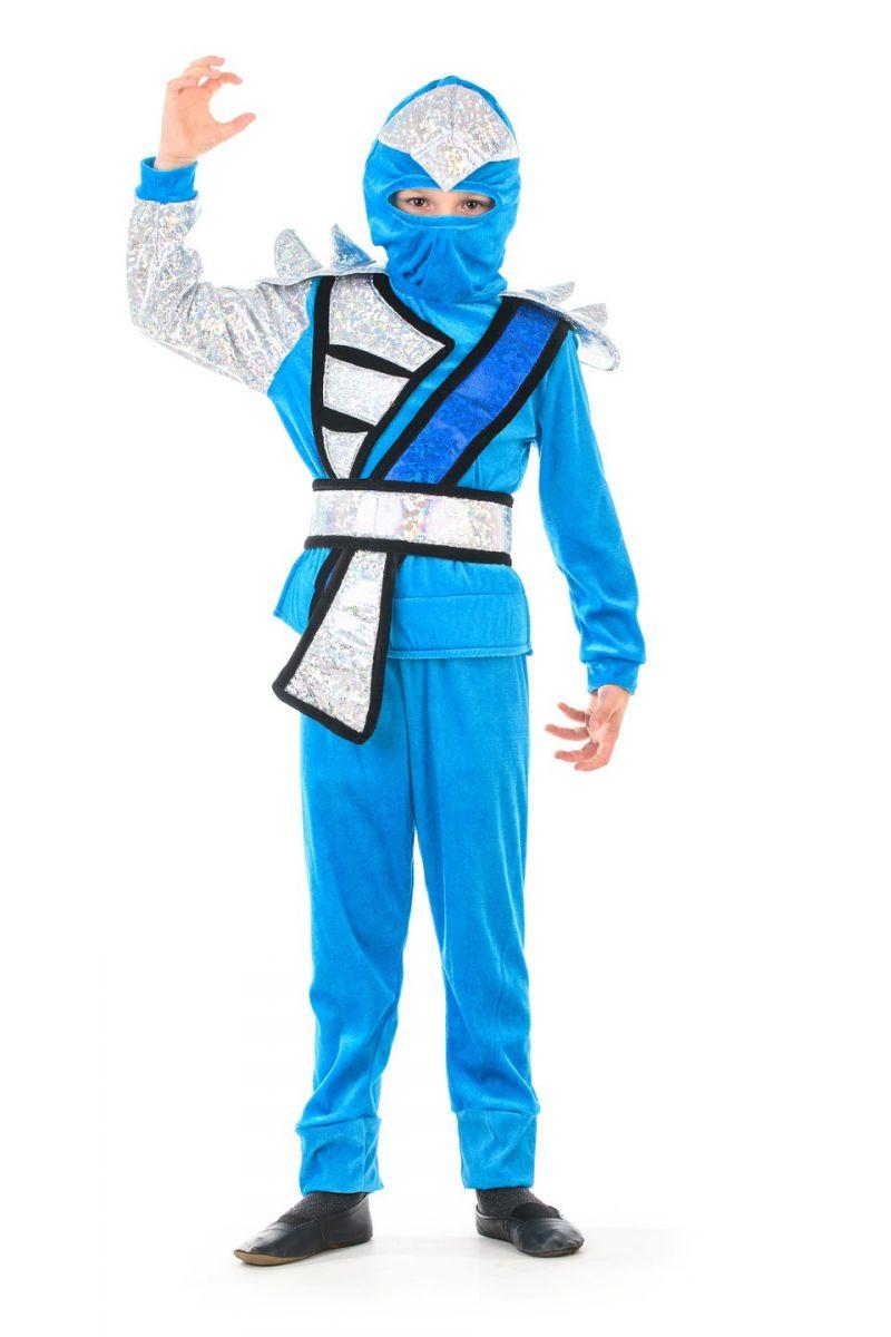 Масочка - «Ниндзяго мальчик бирюза» карнавальный костюм для мальчика / фото №1370