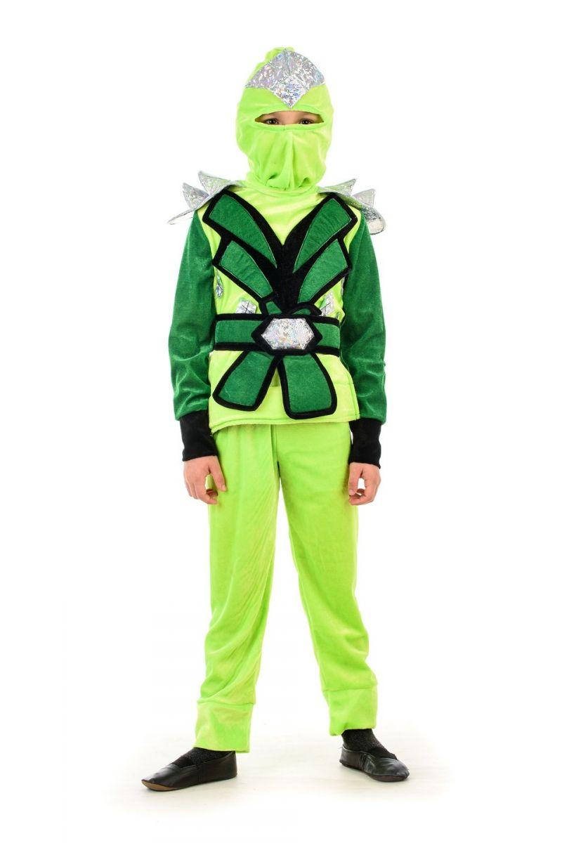 «Ниндзяго мальчик зеленый» карнавальный костюм для мальчика