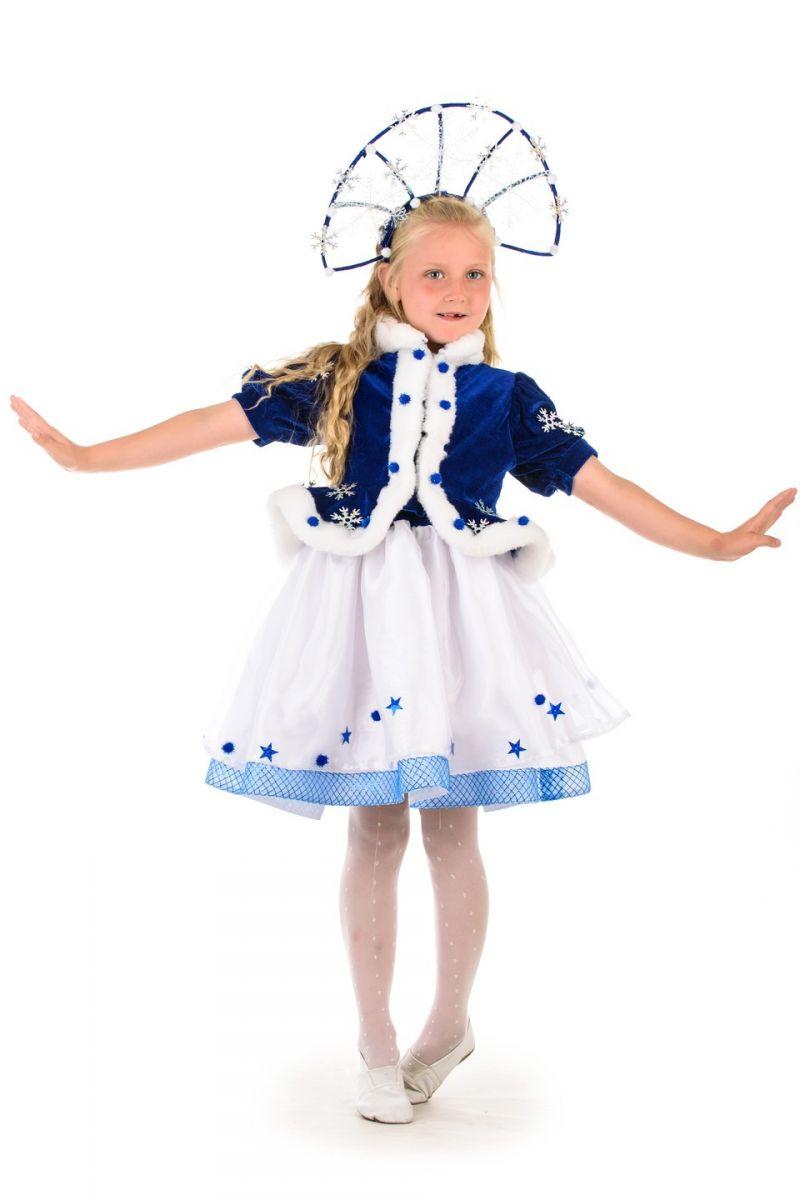 Масочка - Снегурочка «Морозко» с короной карнавальный костюм для девочки / фото №1379