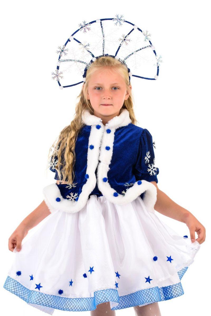 Масочка - Снегурочка «Морозко» с короной карнавальный костюм для девочки / фото №1380