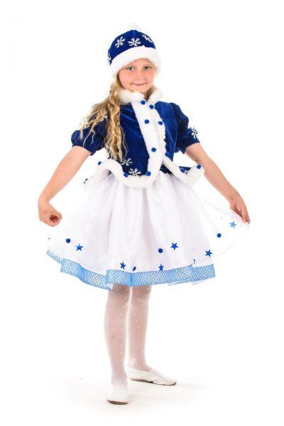 Снегурочка «Морозко» в шапочке карнавальный костюм для девочки