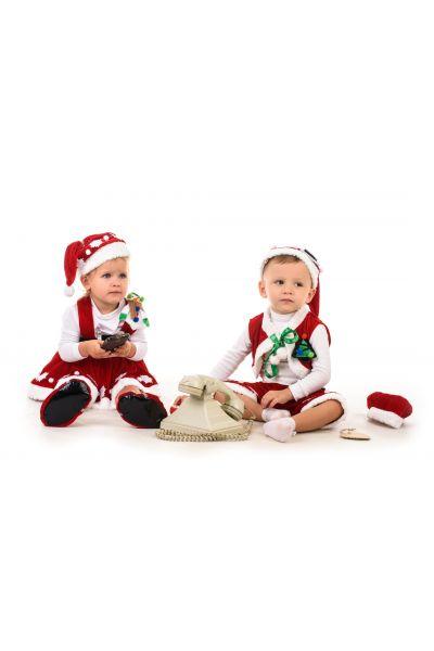 Помощница Санта Клауса «Кроха» карнавальный костюм для малыша