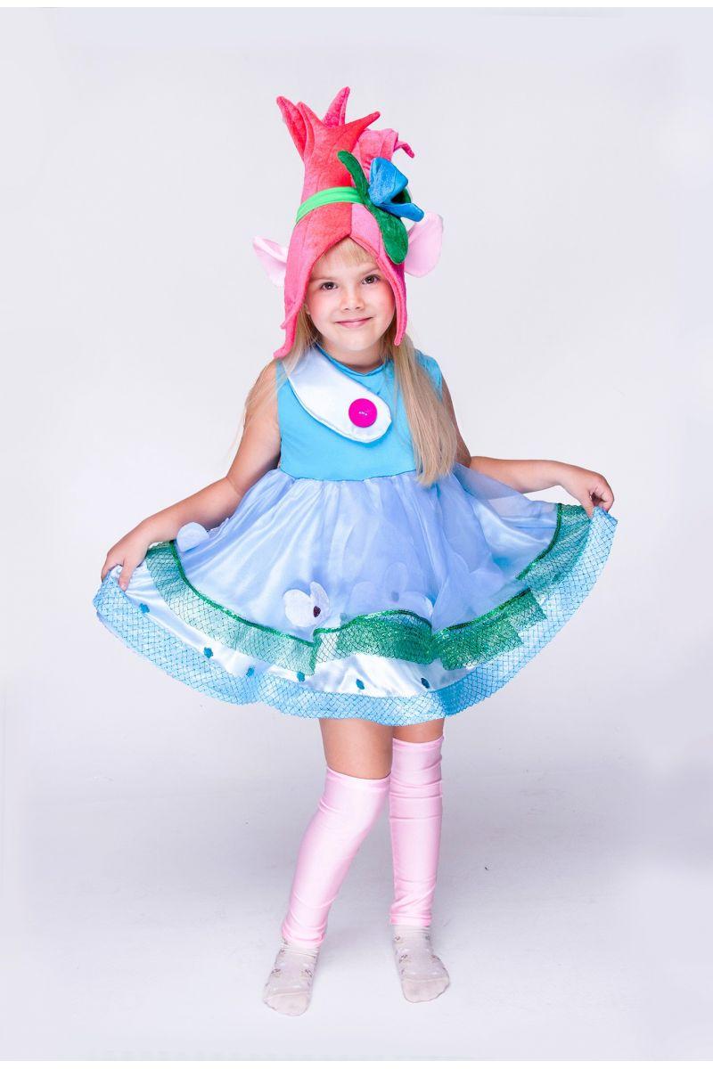 """Розочка """"Тролли"""" карнавальный костюм для девочки"""