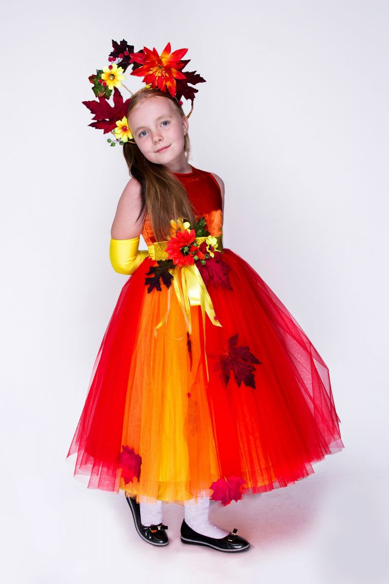 Масочка - Осенняя фантазия. Карнавальный костюм для девочки / фото №1423