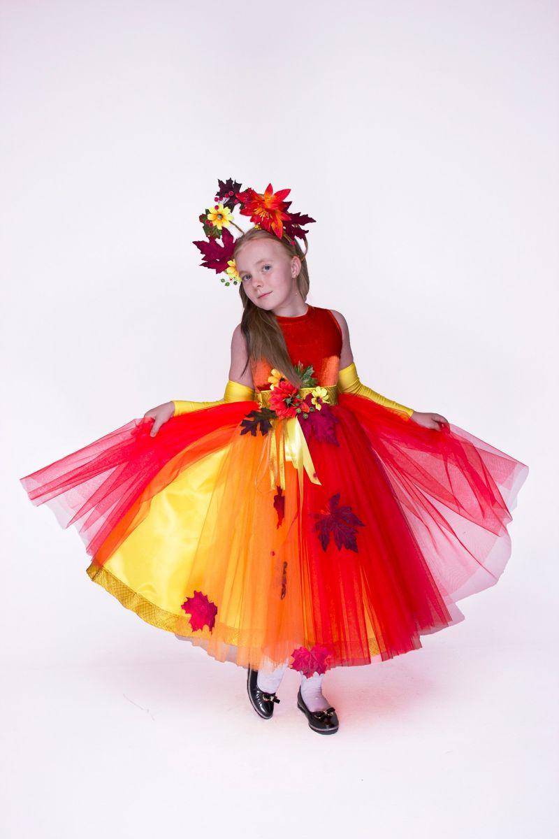 Осенняя фантазия. Карнавальный костюм для девочки