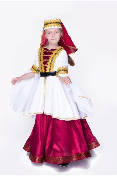 «Грузинка» национальный костюм для девочки