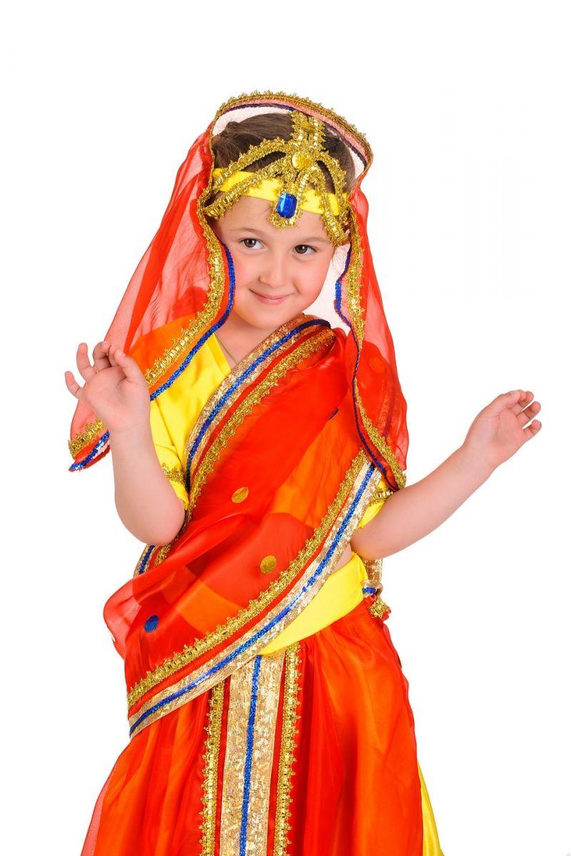 Масочка - «Индианка в сари» национальный костюм для девочки / фото №144
