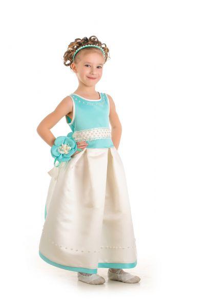 «Мята» нарядное платье для девочки