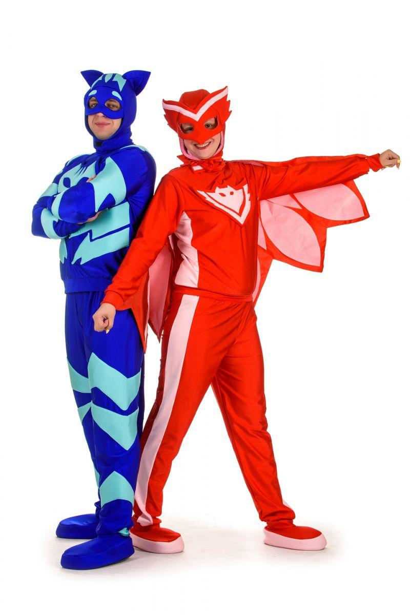 Масочка - Герои в масках «Кэтбой» карнавальный костюм для взрослых / фото №1531