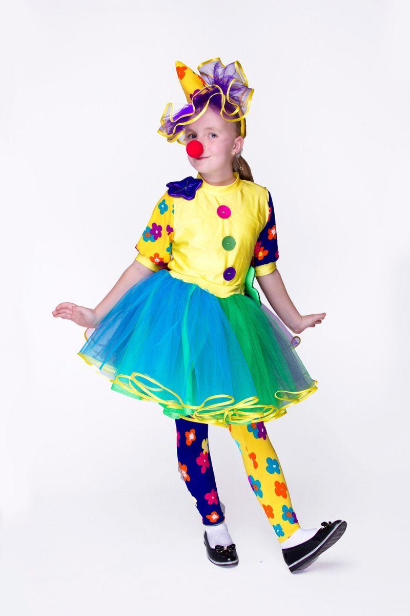 Масочка - «Клоунесса Инесса» карнавальный костюм для девочки / фото №1544