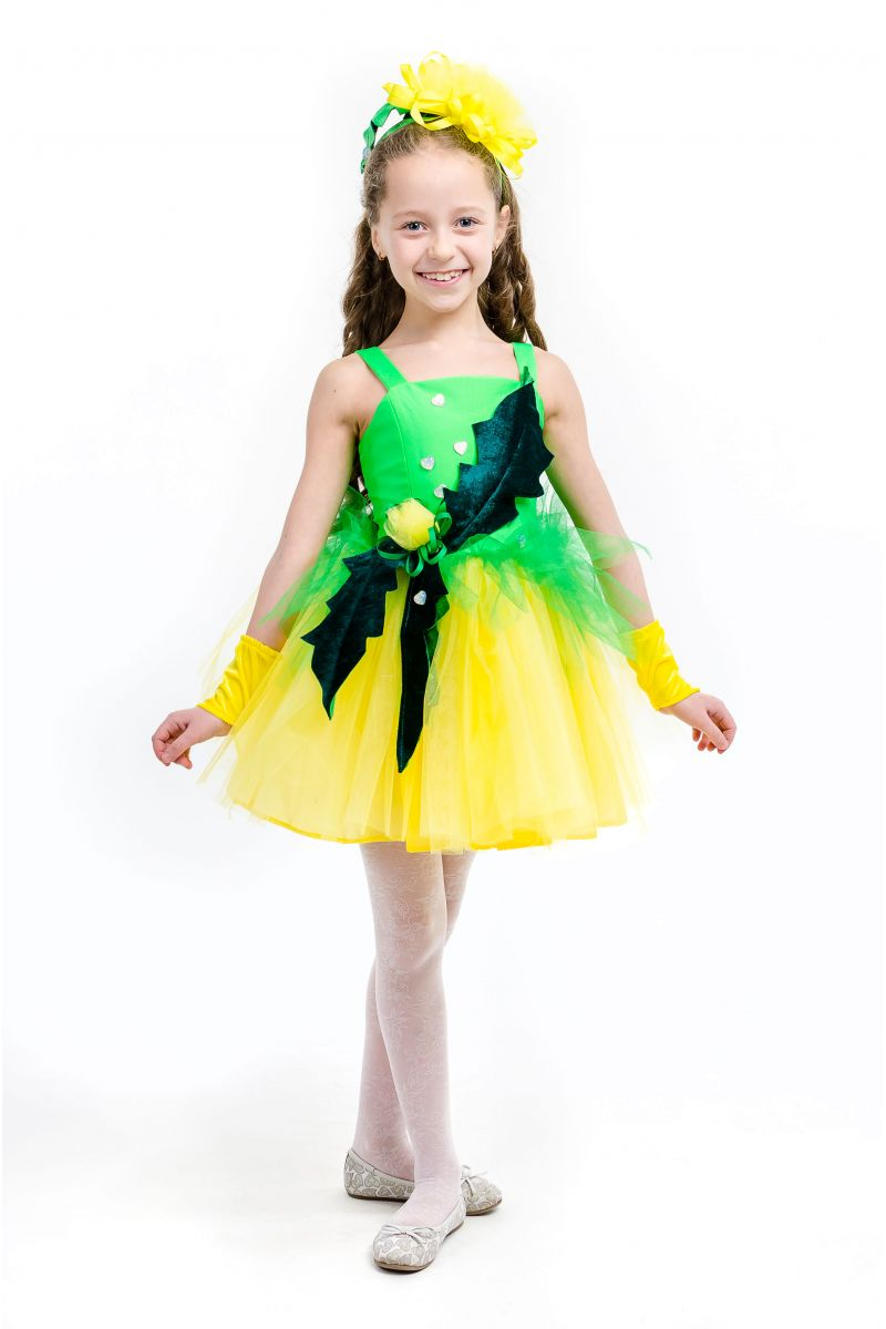 Одуванчик «Золотой» карнавальный костюм для девочки